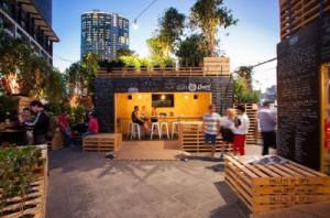 Café a Melbourne ha fatto con i pallet2