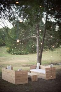 Decorare il vostro giardino con mobili da esterno pallet