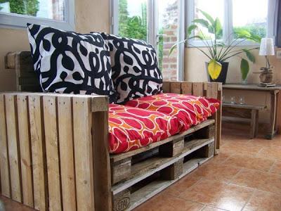 Facile da fare divano palletmobili con pallet mobili con - Realizzare un divano coi pallet ...