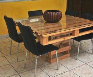 Costruire Tavoli Con Pallet : Tavolo da pranzo fatta di palletmobili con pallet mobili con pallet
