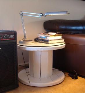 Costruire un tavolo con una bobina di legno