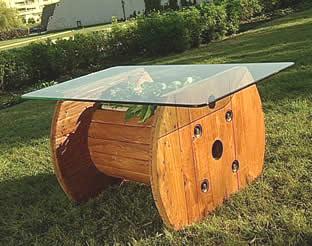 Costruire un tavolo con una bobina di legno3