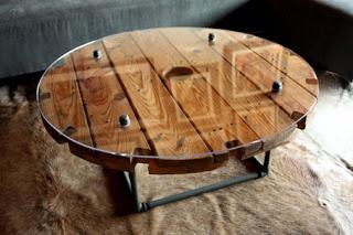 Costruire un tavolo con una bobina di legno7