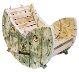 Costruire una sedia a dondolo con una bobina di cavo di - Costruire sedia a dondolo ...