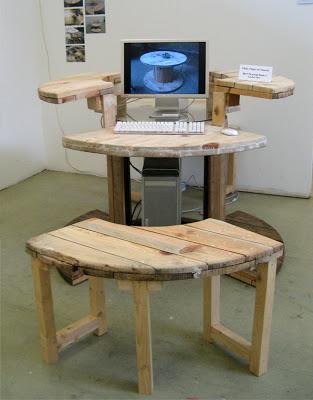 Costruire un computer desktop con una bobina di cavo di legno