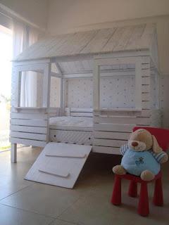 Pallet letto - casa per i vostri bambini