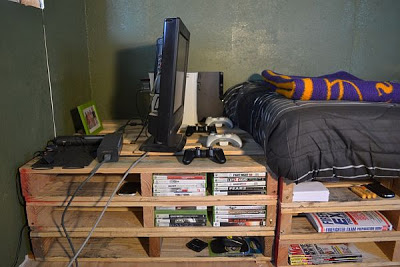 Cheap camera da letto per bambini realizzato con pallet3