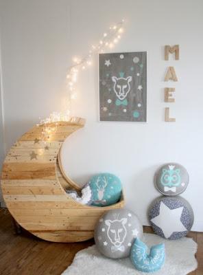 Cheap camera da letto per bambini realizzato con pallet5