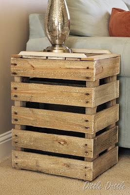 Costruire un comodino rustico con pallet di legno ...
