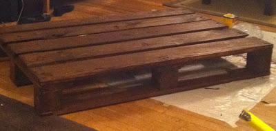 Costruire un tavolo con un pallet di legno e alcuni tubi for Costruire un tavolo pieghevole