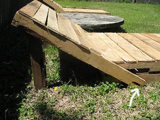 Costruire una sdraio ( chaise long) per il vostro giardino con i pallet5