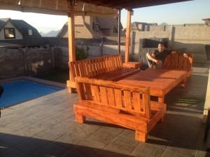 Decoy construcción mobili con pallet riciclati