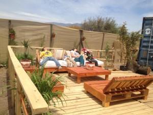 Decoy construcción mobili con pallet riciclati7