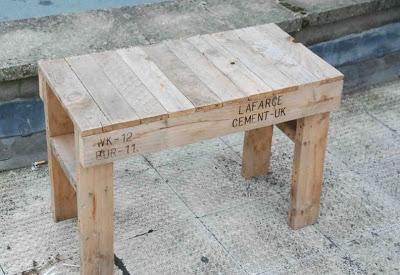 Disegno facile e semplice di un banco e sedia interamente realizzato con pallet4