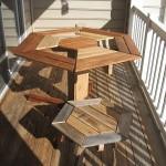 Disegno tavolo esagonale per il vostro balcone realizzato con pallet di legno