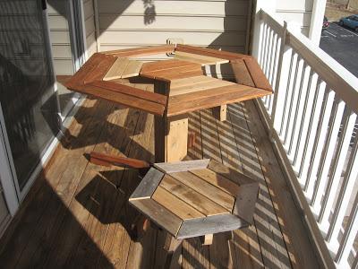 Disegno Tavolo Esagonale Per Il Vostro Balcone Realizzato Con Pallet Di Legnomobili Con Pallet