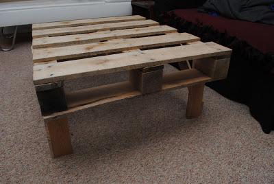 Facile da costruire tavolinomobili con pallet mobili con - Costruire tavolino ...