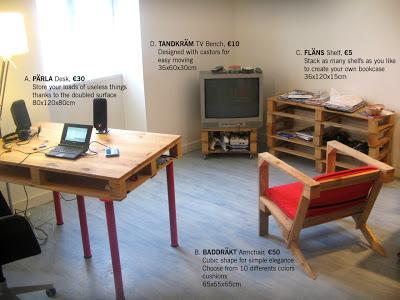 Mobili in stile IKEA realizzati con pallet