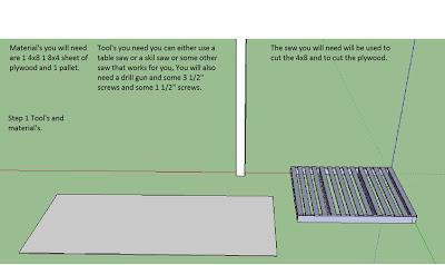 Piani per fare una semplice tabella con i pallet