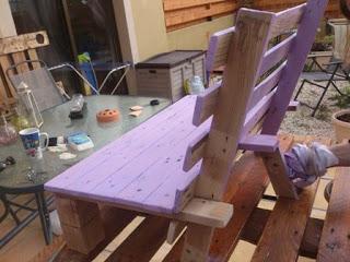 Piccola sedia di design per i vostri bambini fatta di - Sillas hechas con palets ...
