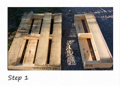 Piccoli scaffali rustico in pallet di legno riciclato3