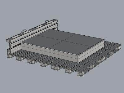 Progetto 3D di un design semplice letto e il suo risultato2