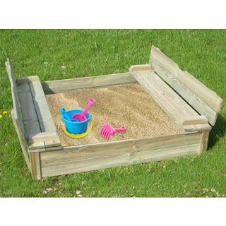 Scatola di sabbia realizzati con pallet in legno2
