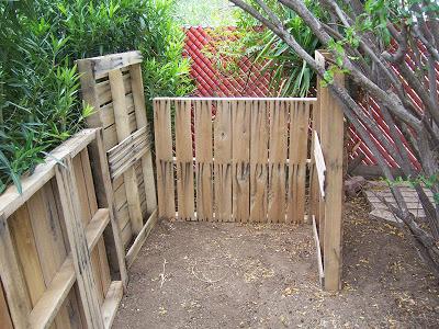 Secchio compost realizzato con pallet di legno3