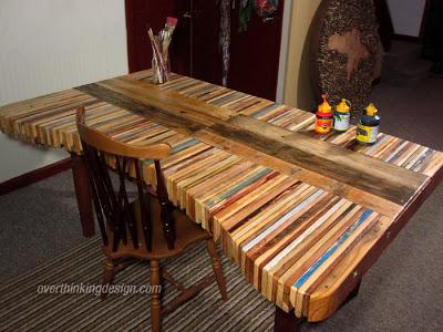 Tavoli con pedane in legno affordable creazioni con bancali di