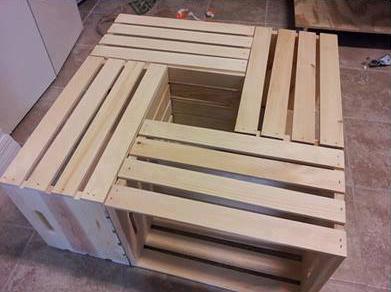 tavolino da caff fatto di cassette di fruttamobili con pallet mobili con pallet. Black Bedroom Furniture Sets. Home Design Ideas