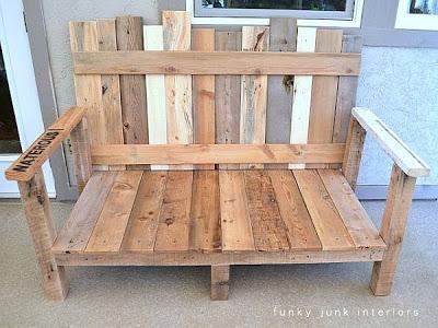 Un divano per il vostro giardino fatta di pallet2