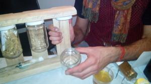 Scaffale da cucina spezie fatta da un pallet6