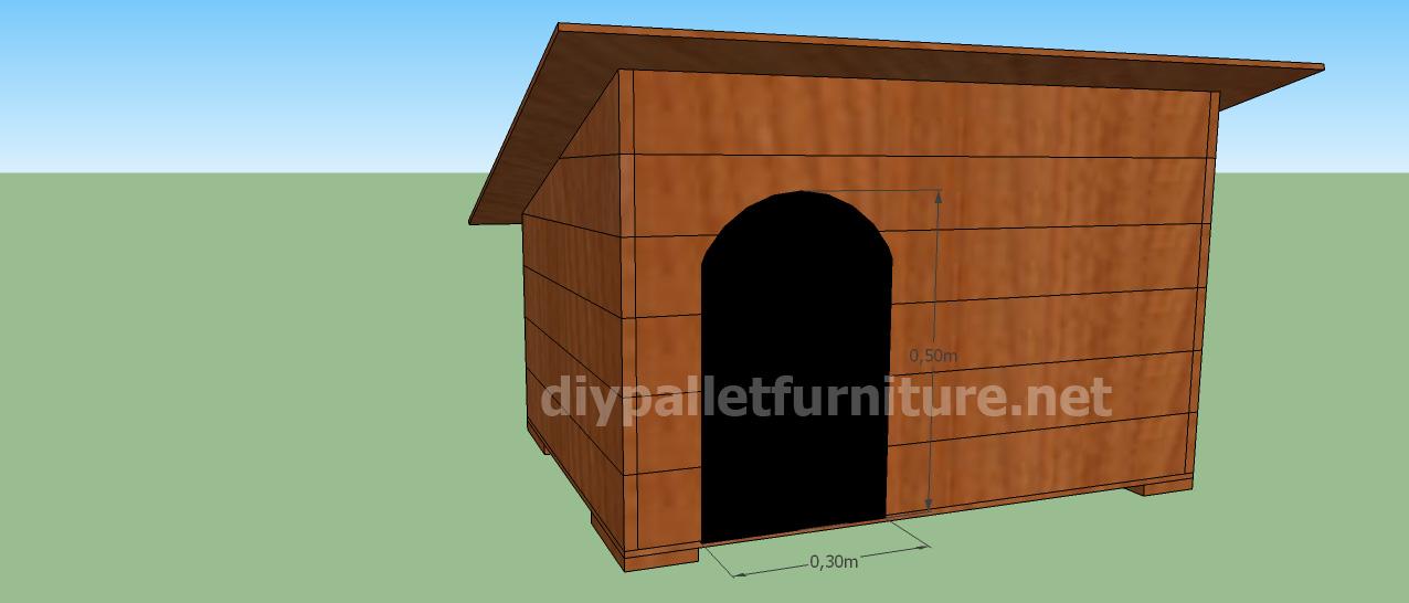 Progetto e piani per costruire una cuccia con i - Entrare in una porta ...