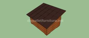 Progetto e piani per costruire una cuccia con i pallet (12)