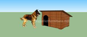 Progetto e piani per costruire una cuccia con i pallet (13)