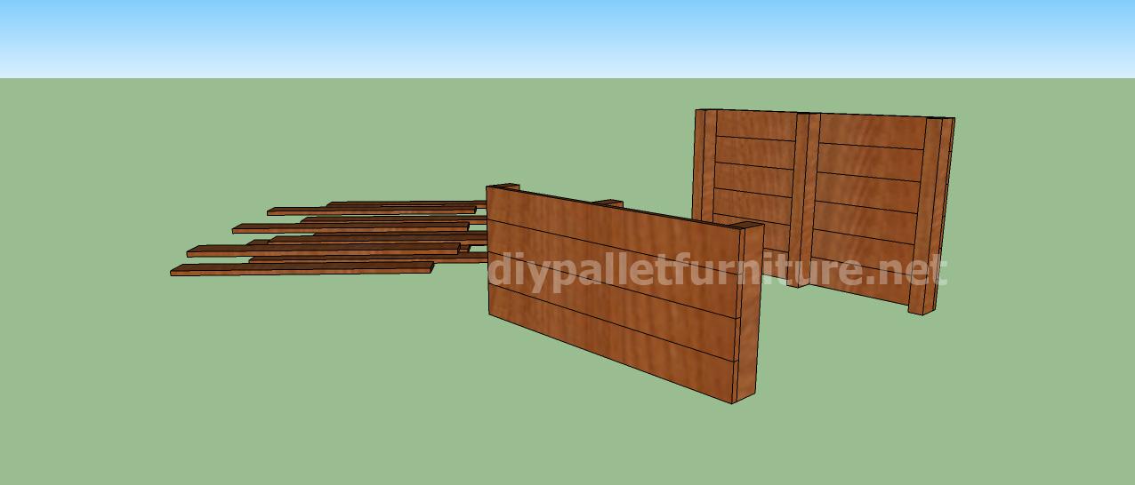 Progetto e piani per costruire una cuccia con i - Niche pour chien en palette ...