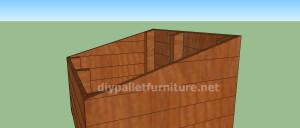 Progetto e piani per costruire una cuccia con i pallet (7)