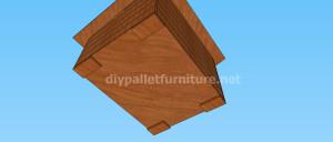 Progetto e piani per costruire una cuccia con i pallet (9)