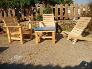 Sedie per il patio e un'amaca per prendere il sole3