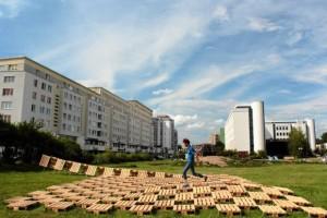 Brodno parco tematico costruito con pallet in Targowek , Varsavia