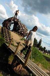 Brodno parco tematico costruito con pallet in Targowek , Varsavia3