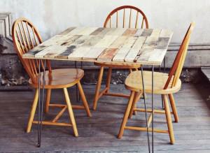 Come fare un tavolo rustico -vintage con tavole pallet (12)