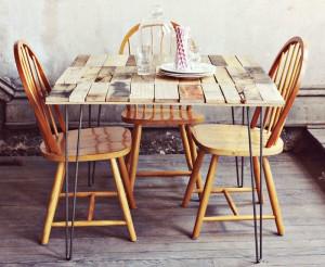 Come fare un tavolo rustico -vintage con tavole pallet (2)
