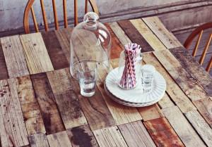 Come fare un tavolo rustico -vintage con tavole pallet