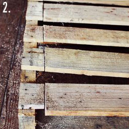 Come fare un tavolo rustico -vintage con tavole pallet (5)