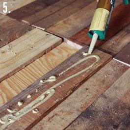 Come fare un tavolo rustico -vintage con tavole pallet (8)