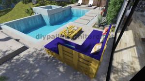 Istruzioni e progetti 3D di come fare un divano per il giardino con i pallet 10
