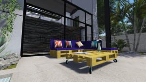 Istruzioni e progetti 3D di come fare un divano per il giardino con i pallet 11