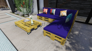 Istruzioni e progetti 3D di come fare un divano per il giardino con i pallet 12