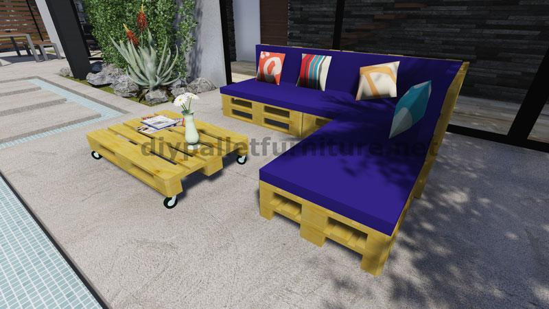 Istruzioni e progetti 3d di come fare un divano per il giardino con i palletmobili con pallet - Divano pallet istruzioni ...